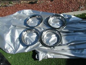 68 82 Corvette Original Restored Rally Wheel Trim Rings Gm