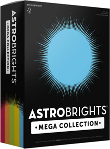 Astrobrights Mega Collection Colored Paper classic 5 color Assortment 625 Sh
