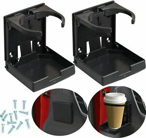 2x Universal Folding Cup Holder Drink Holders For Car Vehicle Boat Marine Rv Eoa