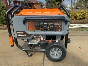 Generac Xt8000e 8 000 Watt Portable Gas Power Electric Start Generator