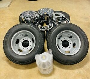New Takeoff Oem Chevy 3500 Dually 17 Steel Wheels Michelin Tires Simulators