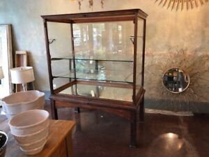 Antique Oak Display Case