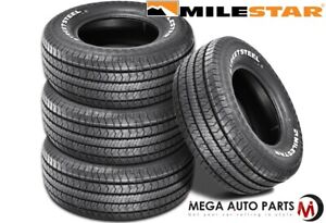 4 Milestar Streetsteel P255 70r15 108t White Letters All Season Muscle Car Tires