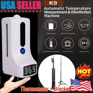2in1 Wall Mounted Thermometer Non contact Infrared Automatic Soap Dispenser Usa
