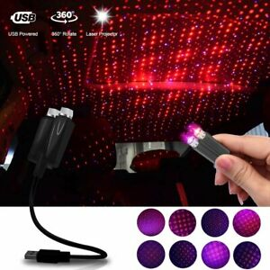 Usb Car Interior Roof Led Star Light Atmosphere Starrry Sky Night Projector Lamp