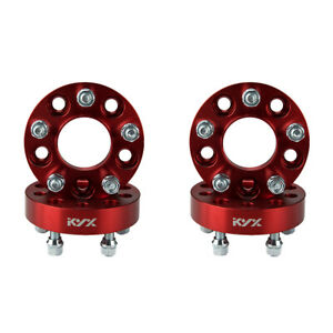 4pc 1 25 Red 5x4 5 Hubcentric Wheel Spacers For Wrangler Tj Cherokee Liberty