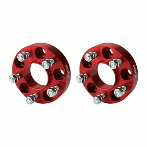 2 X1 25 Red 5x4 5 Hubcentric Wheel Spacers For Wrangler Tj Cherokee Liberty