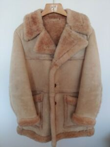 Vintage Shearling Coat Size 44 quot;Marlboro Manquot; Style Very Rare Color... $175.00