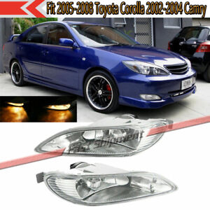 Fits 2005 2008 Toyota Corolla 2002 2004 Camry Left Right Bumper Fog Lamp Light