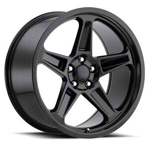 Gloss Black 20x10 5 Et25 5x115 Dodge Magnum Set Of 4 Wheels