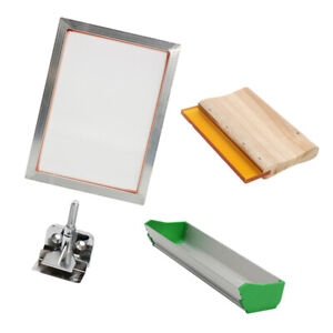 Aluminum Silk Screen Printing Frame With Squeegee Accessories For Diy T shirt