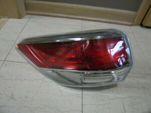 Toyota Highlander 2014 To 2017 Left Driver Side Tail Light Tailight Assembly