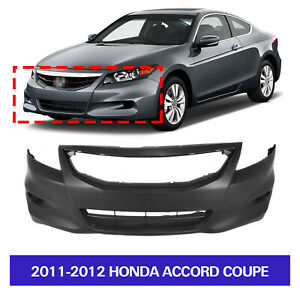Primed Front Bumper Cover For 2011 2012 Honda Accord Coupe 2 door 04711te0a80zz