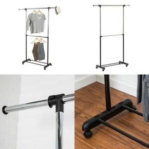 Silver Steel Expandable Clothes Rack 60 In W X 73 In H