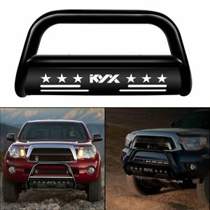 For 05 15 Toyota Tacoma Stainless Bull Bar Brush Push Front Bumper Grille Guard