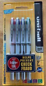 New Uni ball Vision Elite Rollerball Pens Bold 0 8mm 4 Assorted Colors