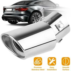 Auto Car Exhaust Pipe Tail Muffler Tip Stainless Steel Replacement Accessories
