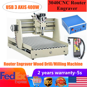 Usb 3axis Cnc 3040 Router Engraver Drilling Milling Machine 3d Cutter handwheel