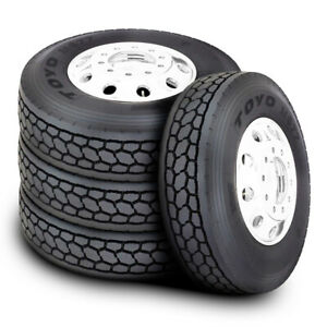 4 New Toyo M677 11r22 5 Load H 16 Ply Drive Commercial Tires