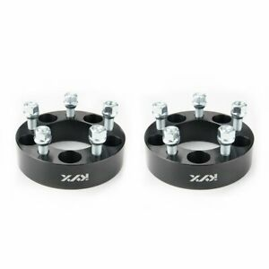 2pcs 1 5 Wheel Spacers Black 5x4 5 For Ford Edge Mustang Lincoln Mercury