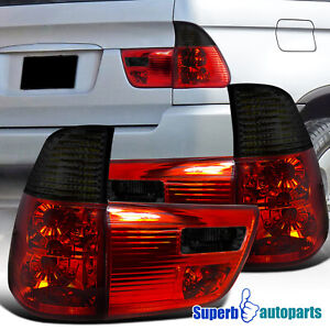 For 2000 2006 Bmw X5 E53 Tail Lights Brake Lamp Red Smoke