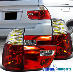 For 2000 2006 Bmw X5 E53 Tail Lights Brake Lamp Red Replacement Pair