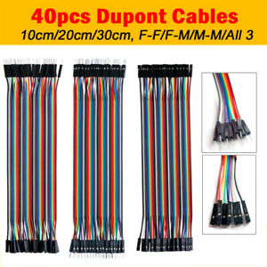 40pcs Dupont Jump Row Wire M f M m F f Jumper Breadboard Cable Lead For Arduino