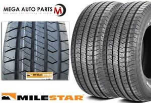 2 Milestar Streetsteel P235 70r15 102t White Letters All Season Muscle Car Tires
