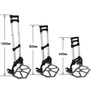 Durable Aluminium Luggage Cart Folding Dolly Push Truck Hand Collapsible New