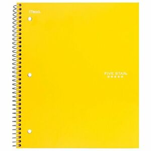 Five Star Spiral Notebook 3 Subject Wide Ruled Paper 150 Sheets 10 1 2 X 8