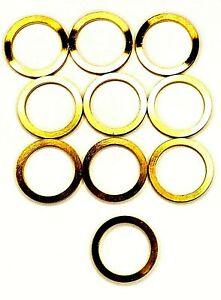10 pack 1 Inch 20mm Brass Ring Adapter Reducer Bushing For Diamond Saw Blades