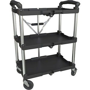 Olympia Tools Pack N Roll Folding Service 150 Lb Capacity Utility Cart used