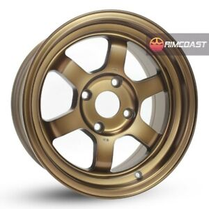 4 Pcs Rota Grid V Wheels 15x8 4x100 0 67 1 Full Royal Sport Bronze