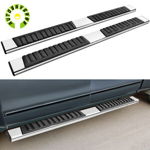 For 09 14 Ford F 150 Super Crew Cab 6 Side Steps Nerf Bars Running Boards S s