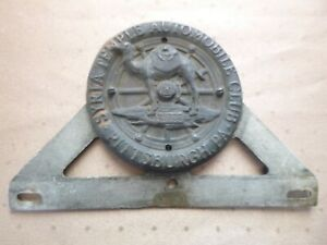 Vintage Syria Temple Automobile Club Pittsburgh Pa License Plate Tag Topper