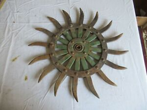 Vintage John Deere Cast Iron Cultivator Wheel 19 Lot 21 9 a