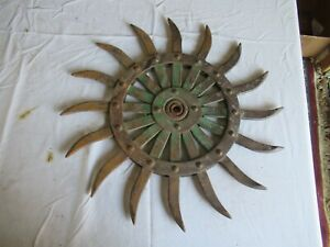 Vintage John Deere Cast Iron Cultivator Wheel 19 Lot 21 9 b