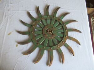 Vintage John Deere Cast Iron Cultivator Wheel 19 Lot 21 9 c
