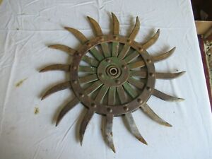 Vintage John Deere Cast Iron Cultivator Wheel 19 Lot 21 9 d