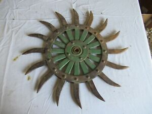 Vintage John Deere Cast Iron Cultivator Wheel 19 Lot 21 9 h