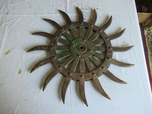 Vintage John Deere Cast Iron Cultivator Wheel 19 Lot 21 9 j