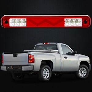 For 1988 1998 Chevy Silverado Gmc Sierra Chrome Led 3rd Brake Light Cargo Lamp