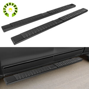 For 19 21 Chevy Silverado Double Cab 6 Running Boards Nerf Bars Side Steps Blk