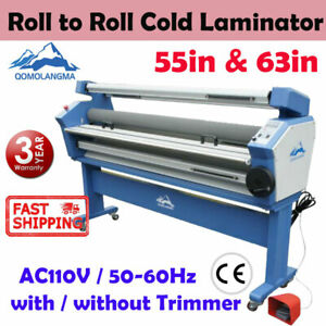 55in 63in Large Cold Laminator Roll To Roll Laminating Machine With Trimmer