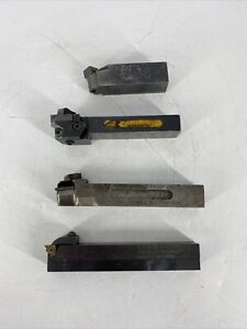 Lot Of 4 Indexable Lathe Turning Tool Holder Kennametal Carboloy Us Tool Cutter