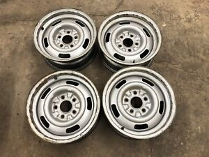 1967 67 Corvette Dc Dg 15x6 Dated Rally Wheels Rims Set Of 4 Ralley Read