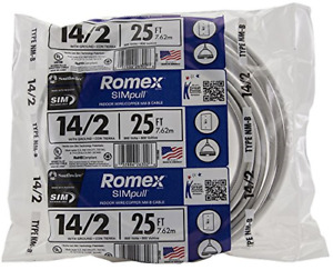 Southwire 28827421 25 14 2 With Ground Romex Brand Simpull Residential Indoor