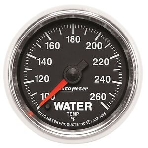 Autometer 3855 Gs Electric Water Temperature Gauge
