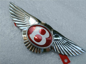 Bentley Continental Gt Gtc Flying Spur Emblem Front Grille Wing Badge Red 1 Pc