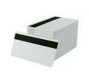 White Cr80 Pvc Cards With Hi co Magnetic Stripe Pack Of 500